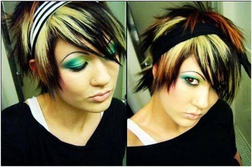 emo Frisuren für Mädchen