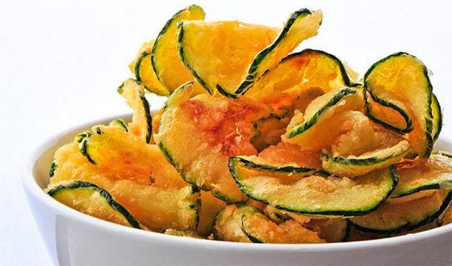 Gebackene Zucchini Chips