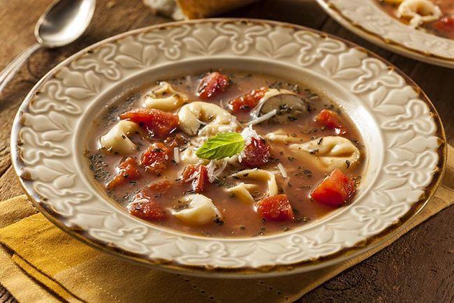 Köstliche Pasta-Suppe