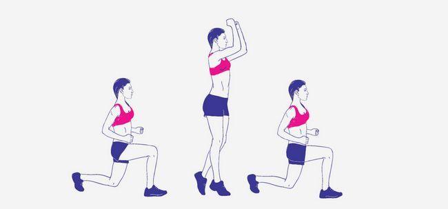 11 einfache Schritte zum Springen Lunges Foto