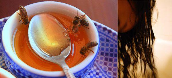Honig für krauses Haar