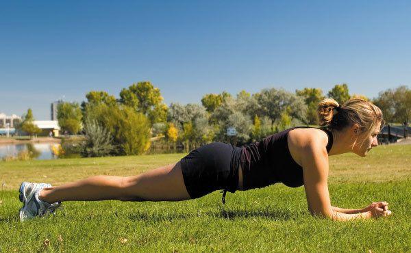 Roll Planke Übung