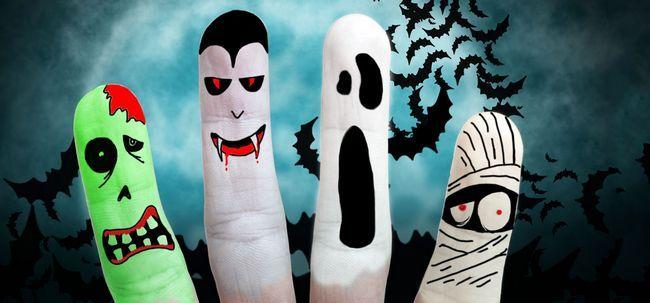 17 Verrückter Halloween-Make-up-Ideen Foto
