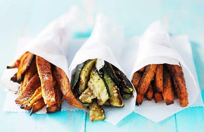Machen Sie gesund und gebacken Versionen Ihrer Lieblings-Junkies etwas Weise unerwarteter als die typische fettigen Pommes!