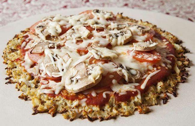 Machen Sie ein gesundes und Low-Carb Pizzateig mit Blumenkohl
