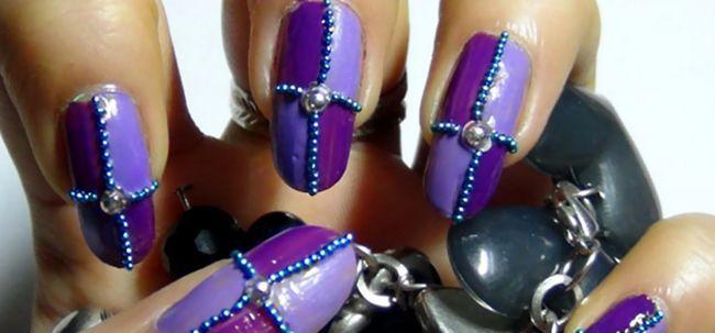 2 Atemberaubende lila Nail Art Design Tutorials - mit detaillierten Schritte und Bilder Foto