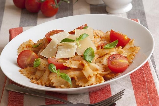 Basil-And-Tomaten-Pasta