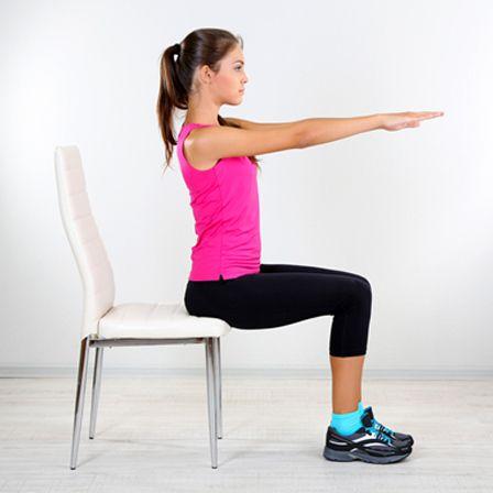 Stuhl Yoga