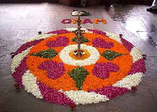 Blume rangoli Designs