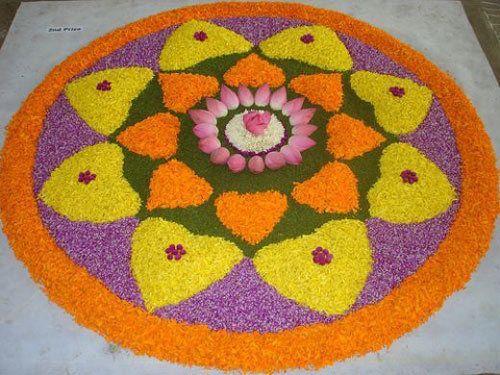 onam pookalam Designs 2012