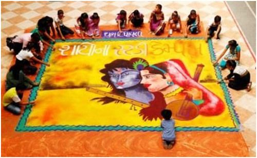 rangoli Entwürfe für Diwali-Fest