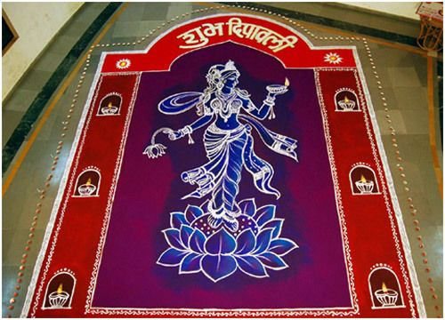 rangoli Designs für Diwali einfache Designs