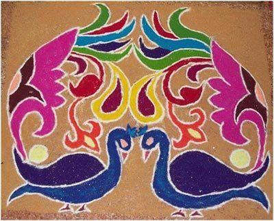 gewidmet rangoli Designs