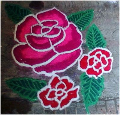 hellrosa rangoli Designs
