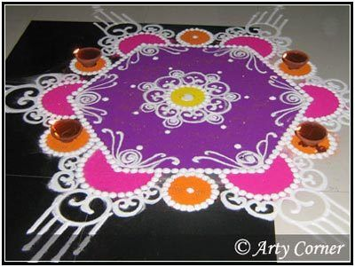 Lord Ganesha rangoli Designs