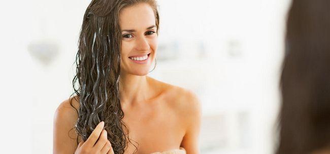 5 einfache Schritte, Haarmasken Zur Bewerbung Foto