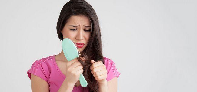 5 einfache Möglichkeiten, um Haarausfall zu steuern durch Stress Foto