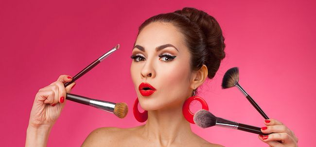 5 Schritte Tutorial strahlende Haut Make-up Get Foto