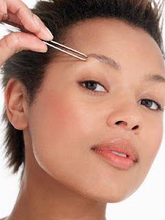 Das Herausziehen Eyebrows