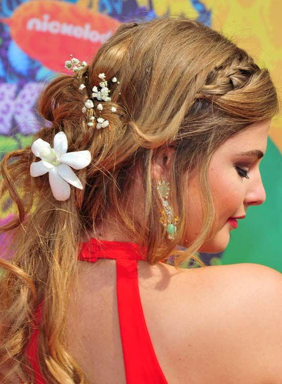 Verträumt-Half-n-Halb Hairdo-mit-Braid-und-Curls