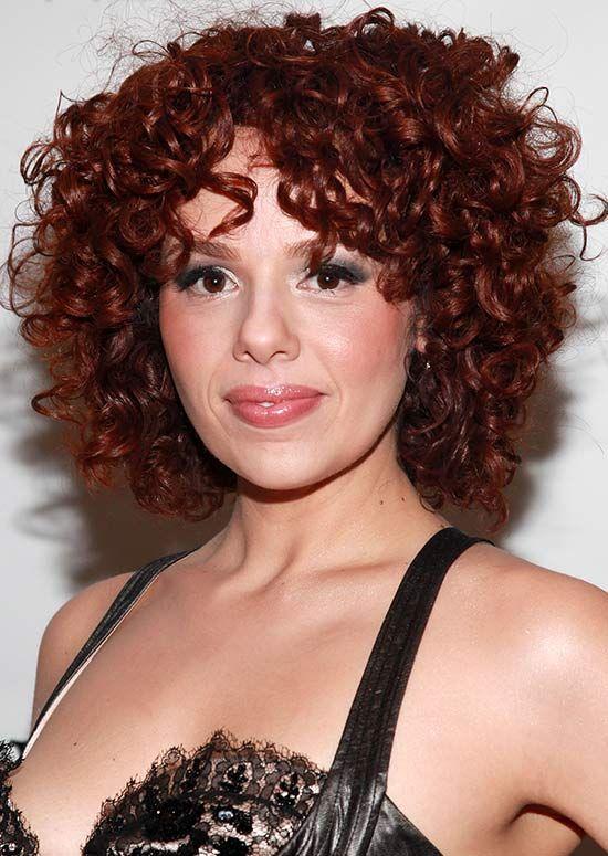 Super-Curly, Voluminöse Reiche Auburn Blonde