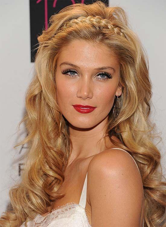 Luscious Blonde Curls mit Geflochtene Stirnband