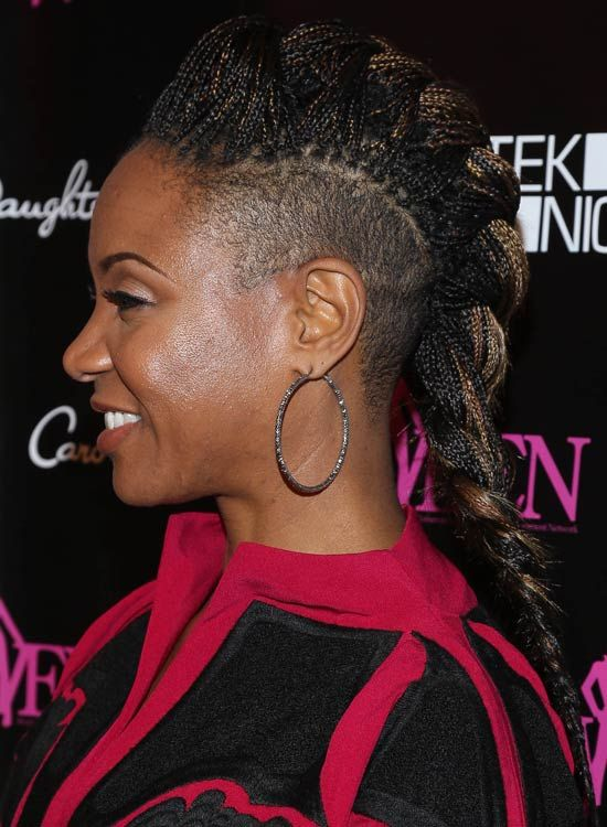 Rasierte-Mohawk-Side-Braid