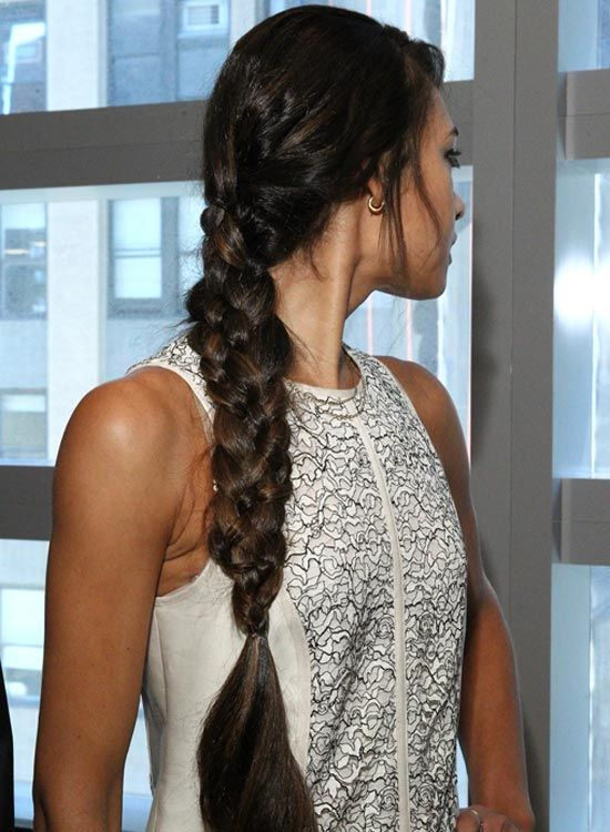 Lang Thick-Four-Strand-Braid-mit-Curly-End