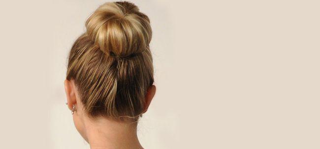 50 Schöne Brötchen Frisuren für langes Haar Foto
