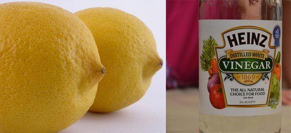 Zitrone und Essig für die Haare