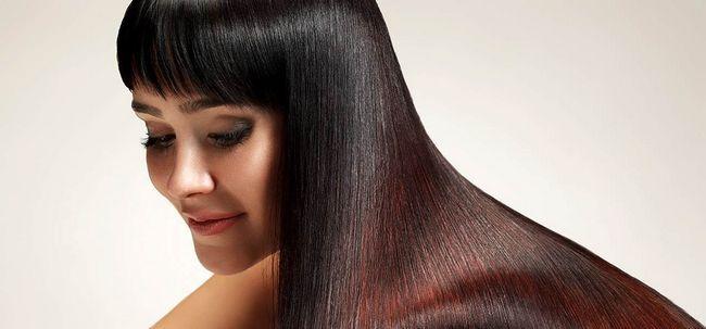 9 Einfache Schönheit Tipps, Glänzendes Haar Foto