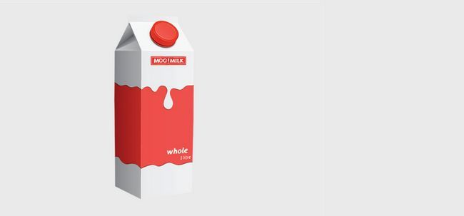 9 Sorten Milch in den Markt Foto