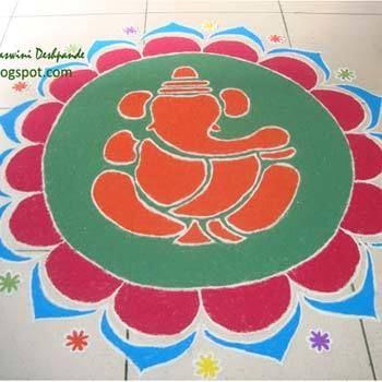 Beste Ganesh Rangoli Designs - Unsere Top 10 Foto