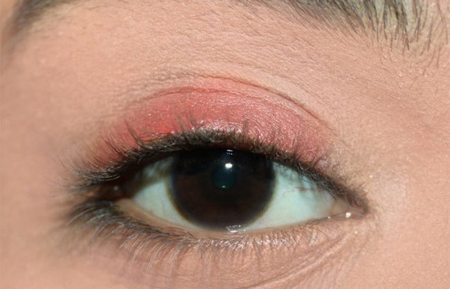 Frische Coral Eye Make-up Look Tutorial