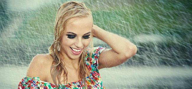 Haarpflege Nach Regen Drench Foto