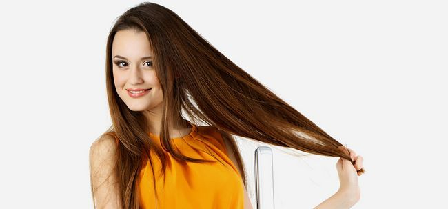 Haarglättung VS Haarglättung Foto