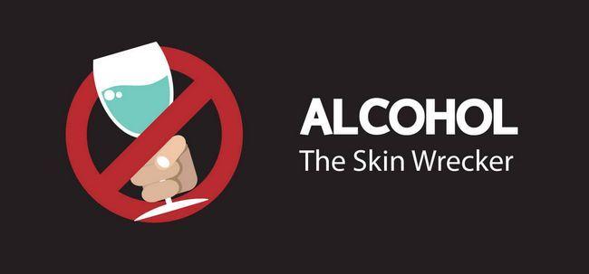 Wie funktioniert Schaden Alkohol Ihre Haut? Foto