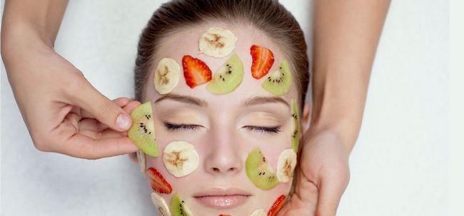 Wie eine Frucht Gesichts zu tun? Foto