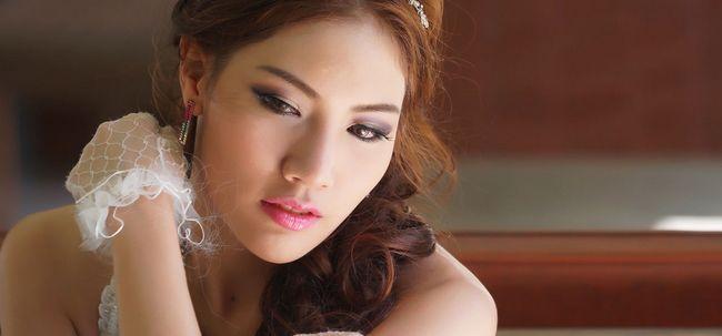 Wie Korean Braut Make-up zu tun? Foto