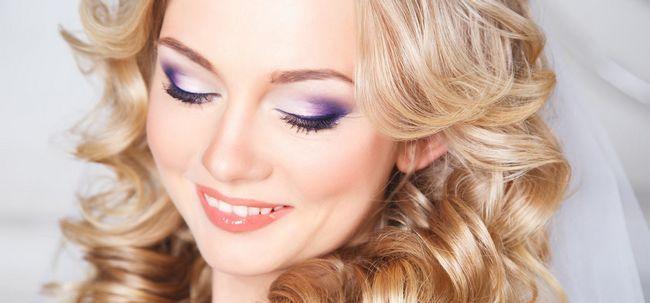 Wie lila Hochzeit Make-up zu tun? Foto