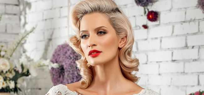 Wie Vintage Wedding Make-up zu tun? Foto