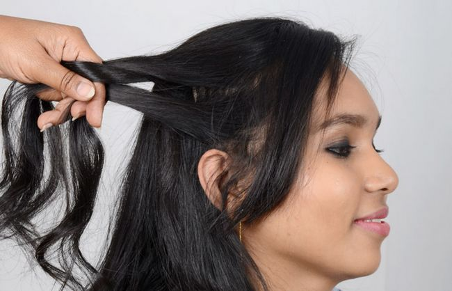 Teilen Sie Ihr Haar