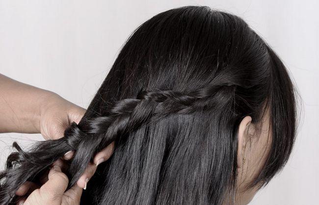 schwarze Gummiband und setzen Haare