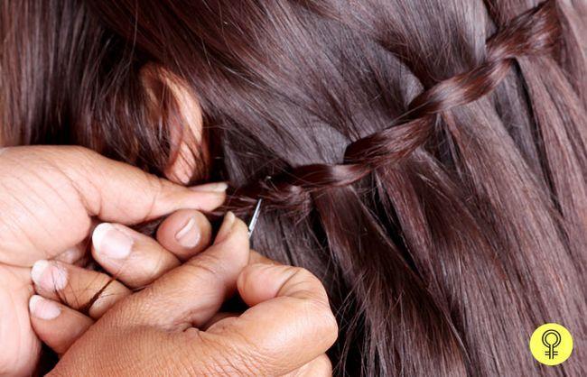 Haarsträhnen lose