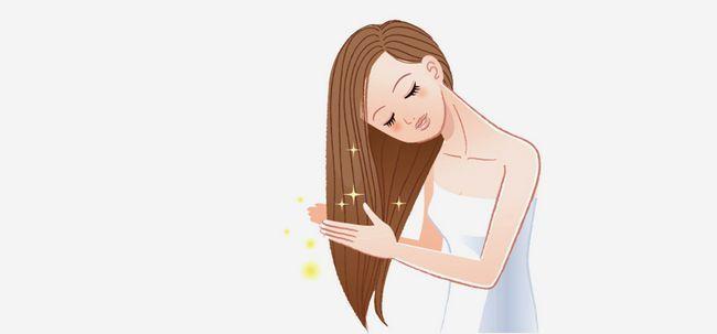 Wie man die richtige Pflege Ihrer Haare nehmen? Foto