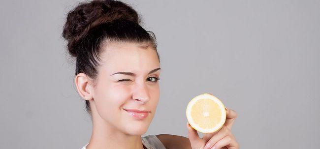 Wie Lemon Verwenden von Rid von Schuppen zu bekommen? Foto