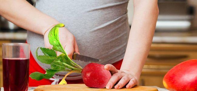 Ist es sicher, Rettich zu essen während der Schwangerschaft? Foto