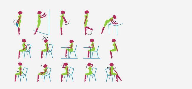 Office-Workout - 10 effektive Übungen Sie bei der Arbeit tun können Foto