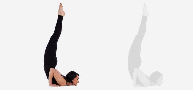 Pincha Mayurasana / Gefiederte Peacock Pose - How To Do und was sind die Vorteile? Foto