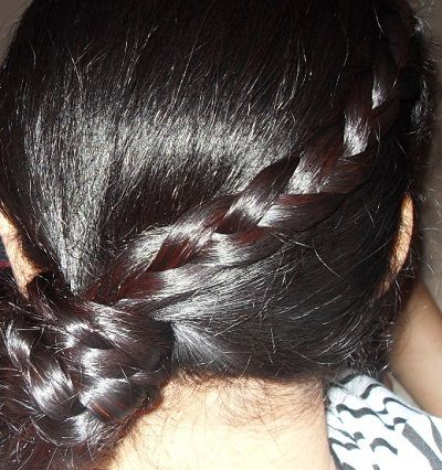 Side Pony verdreht Braid Frisur Foto